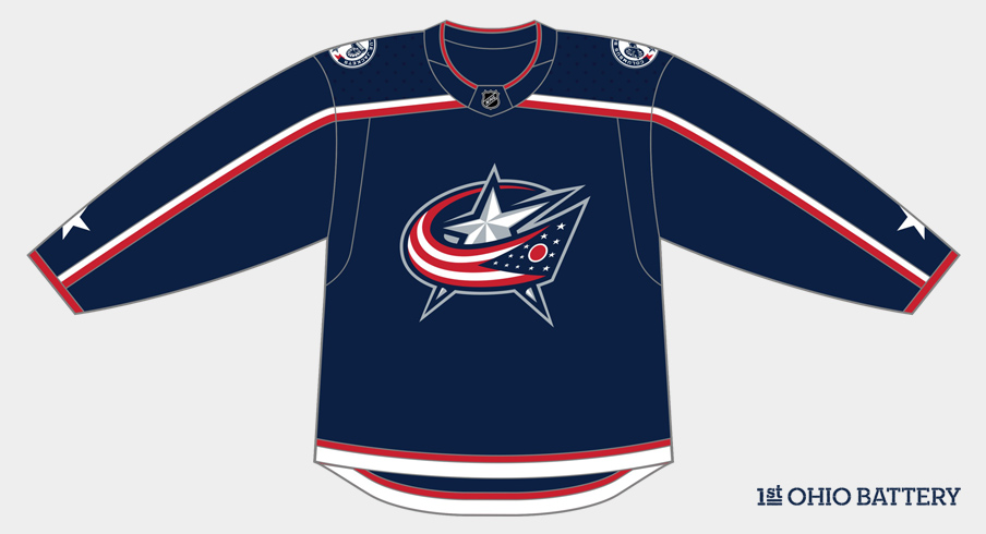 Columbus Blue Jackets new adidas home jersey.