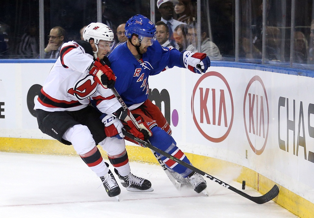 Chris Summers with the New York Rangers