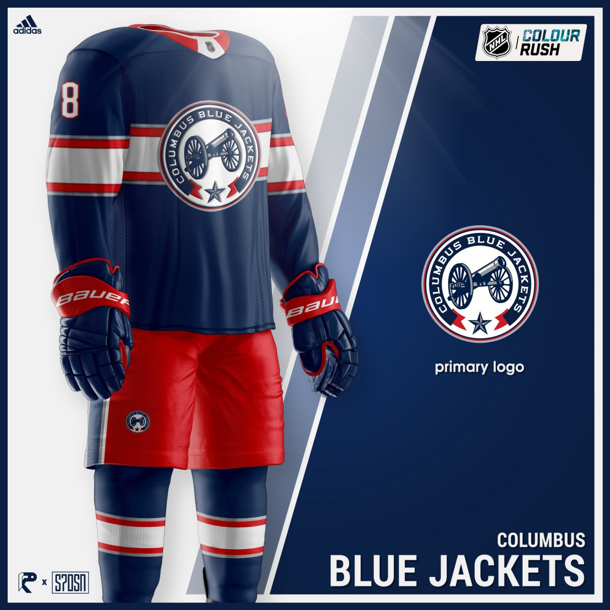 new products 1f432 e7921 The Columbus Blue Jackets Color Rush Jerseys, Presented by ...
