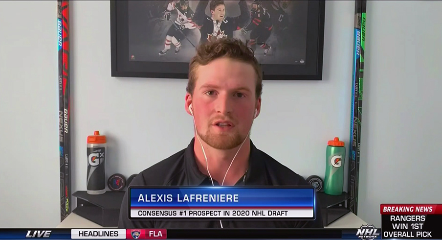 Alexis Lafreniere interviewed on the NHL Network