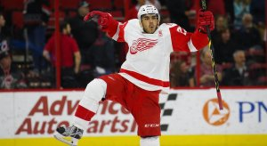 Andreas Athanasiou celebrates after a goal scored