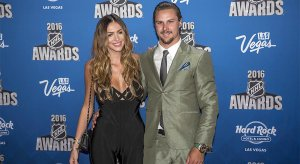 Erik Karlsson and his wife Melinda at the 2016 NHL Awards.