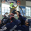 Columbus Blue Jackets prospects celebrate a tournament title at the OhioHealth Ice Haus in Columbus.