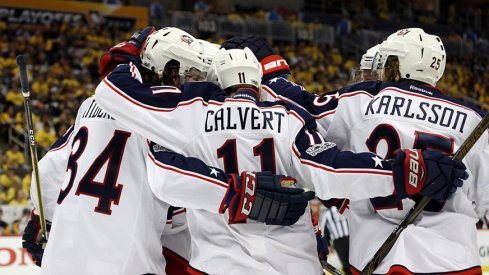 The Columbus Blue Jackets' 4th line, heroes of Game 4.