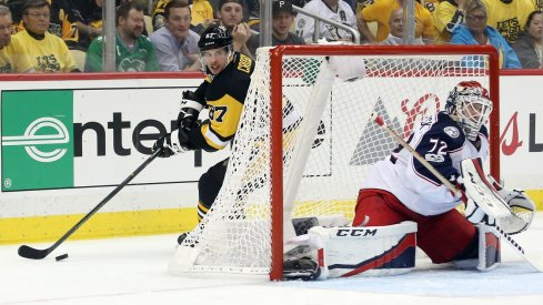 Sergei Bobrovsky was bested by Sidney Crosby and the Pens