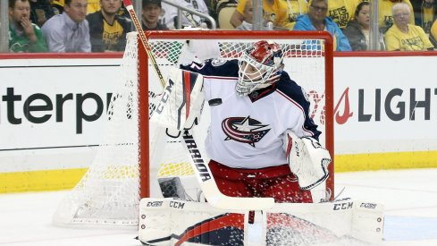 Sergei Bobrovsky made some saves in the playoffs but needed to make more
