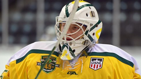 Matiss Kivlenieks playing for the Sioux City Musketeers