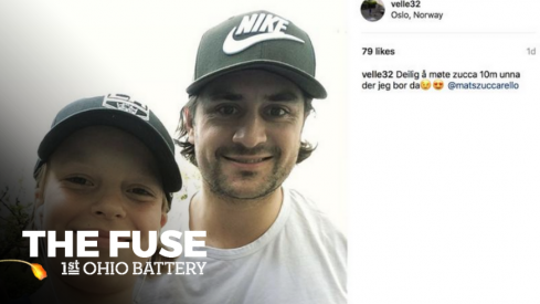 Mats Zuccarello surprises a fan in Norway