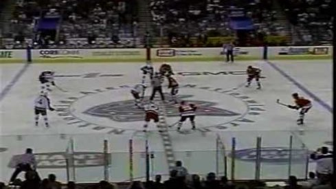 The initial faceoff in Blue Jackets history
