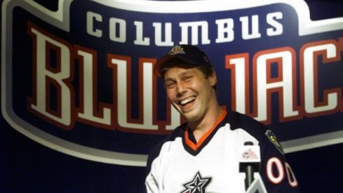 Lyle Odelein smiles as he was just selected by the Columbus Blue Jackets