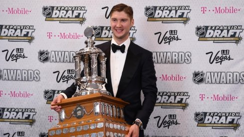 Sergei Bobrovsky smiles as he wins his second Vezina Trophy.