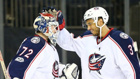 Seth Jones and Sergei Bobrovsky