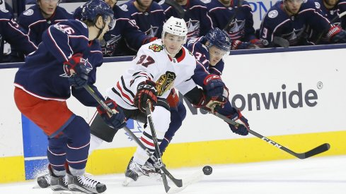 The Blue Jackets returned to the ice vs. the Blackhawks.