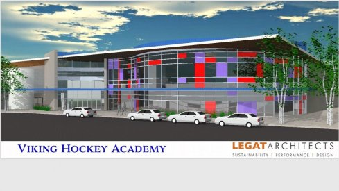 Vikings Hockey Academy renderings, planned for late 2019 in Columbus