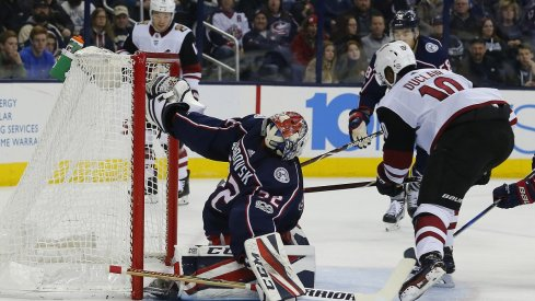 Sergei Bobrovsky earned the shutout