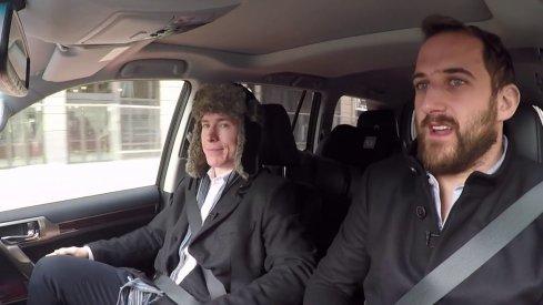 Nick Foligno drives Matt Calvert around Columbus during their Carpool with the Captain segment
