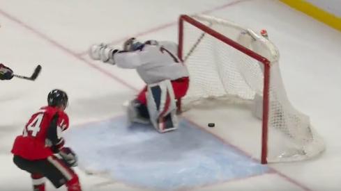 Sergei Bobrovsky lets in a bad goal against the Ottawa Senators