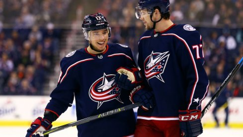 Blue Jackets forwards Josh Anderson and Cam Atkinson