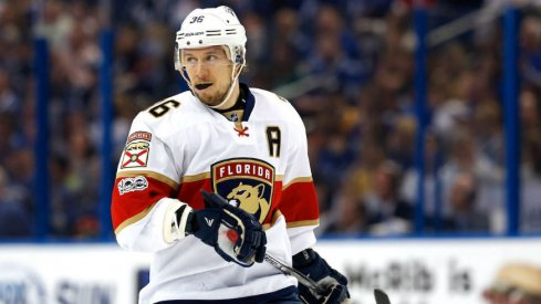 New Blue Jackets forward Jussi Jokinen, pictured here as a member of the Florida Panthers.