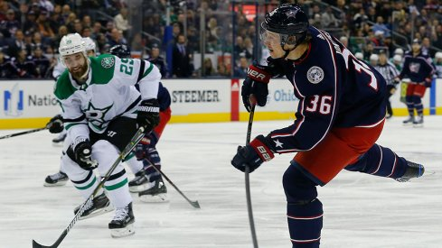 Jussi Jokinen's first game in Columbus was a win for the Jackets over the Dallas Stars.