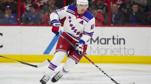 New York Rangers forward Rick Nash, a potential trade target for the Blue Jackets.