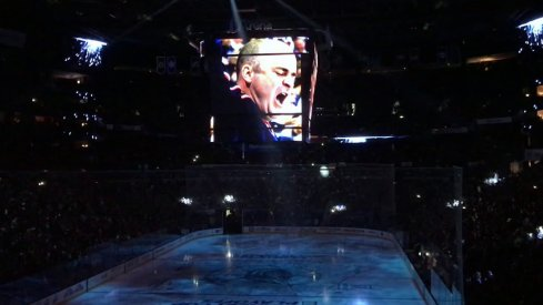 The scene in Nationwide Arena prior to the start of Game 3 against the Washington Capitals.
