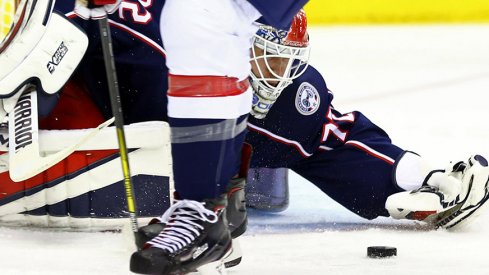 The Columbus Blue Jackets laid an egg, losing 4-1 to the Capitals despite a record crowd.