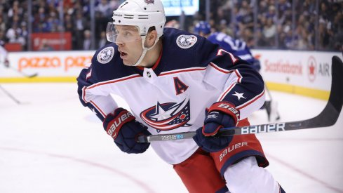 Blue Jackets defenseman Jack Johnson