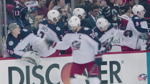 The Columbus Blue Jackets released their favorite mic'd up moments of the 2017-18 season.
