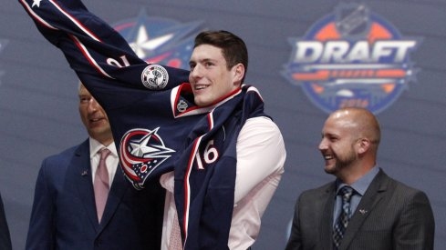 Columbus Blue Jackets center Pierre-Luc Dubois on his 2016 draft day in Buffalo, NY.