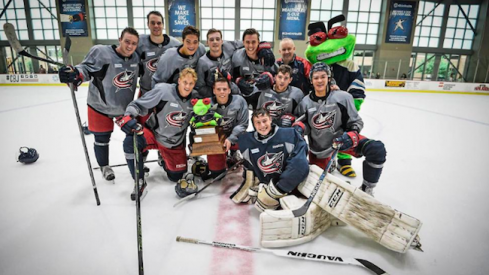 Blue Jackets development camp 3-on-3 tournament winners, from 2015.