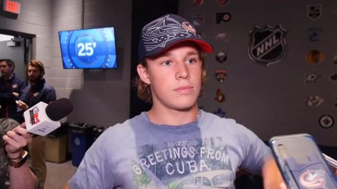 Markus Karlberg Blue Jackets #15 prospect