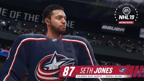 Seth Jones comes in at an 87 in EA NHL 19.