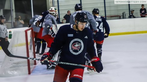 Cam Atkinson skates in Blue Jackets Training Camp