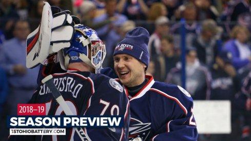 Bobrovsky and Korpisalo hug it out