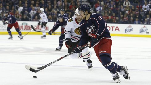 Artemi Panarin faces off against his old team the Chicago Blackhawks
