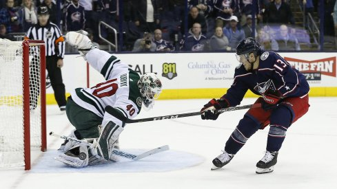 Cam Atkinson is on pace for a record season in scoring for the Columbus Blue Jackets with 15 goals in 24 games.