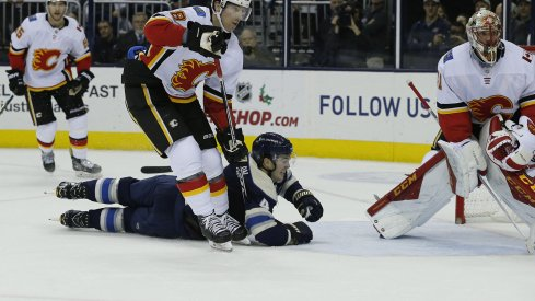 The Columbus Blue Jackets gave up nine goals in a loss to the Calgary Flames tonight.