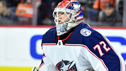 Sergei Bobrovsky picked up the win tonight in Philadelphia for the Columbus Blue Jackets.