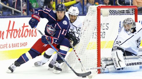 Brandon Dubinsky has 9 points through 20 games for the Columbus Blue Jackets, already more than half his point total from last season.