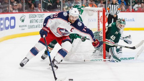 Nick Foligno's Columbus Blue Jackets struggled offensively against the Minnesota Wild, though Sergei Bobrovsky stood tall with 29 saves.