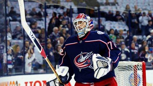Columbus Blue Jackets goaltender Sergei Bobrovsky.