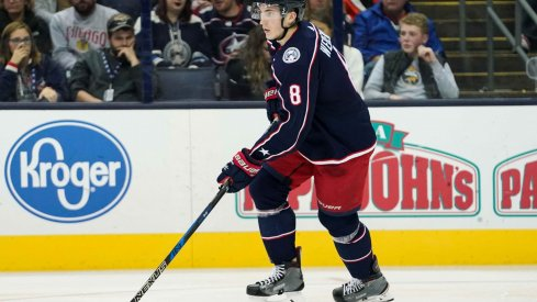 Zach Werenski has 30 points through 56 games for the Columbus Blue Jackets.