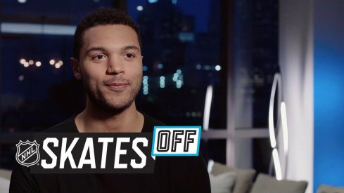 Columbus Blue Jackets defenseman Seth Jones shows off his culinary skills.