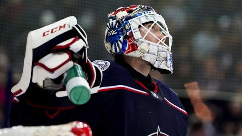 Sergei Bobrovsky was a star tonight for the Columbus Blue Jackets.