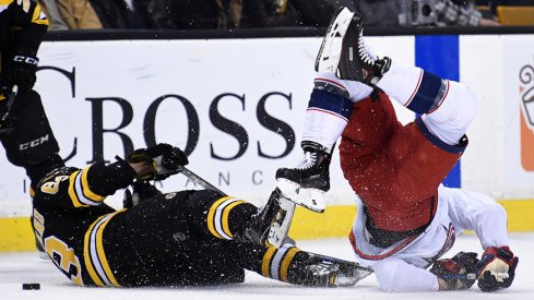 Brad Marchand and Nick Foligno will tangle again tonight.