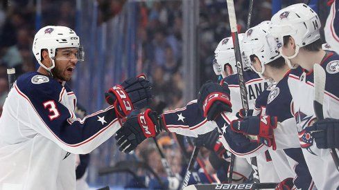 Seth Jones had the Game 1 winner for the Blue Jackets.
