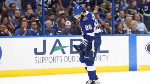 Nikita Kucherov will likely receive a hearing from the NHL after his illegal hit on Markus Nutivaara in Game 2 of the Columbus Blue Jackets versus Tampa Bay Lightning.