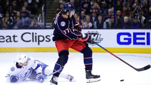 Josh Anderson has been a wrecking ball in the Blue Jackets' series against the Tampa Bay Lightning.
