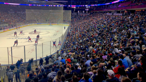 More than 5,000 fans packed Nationwide Arena for Blue Jackets practice and a scrimmage.